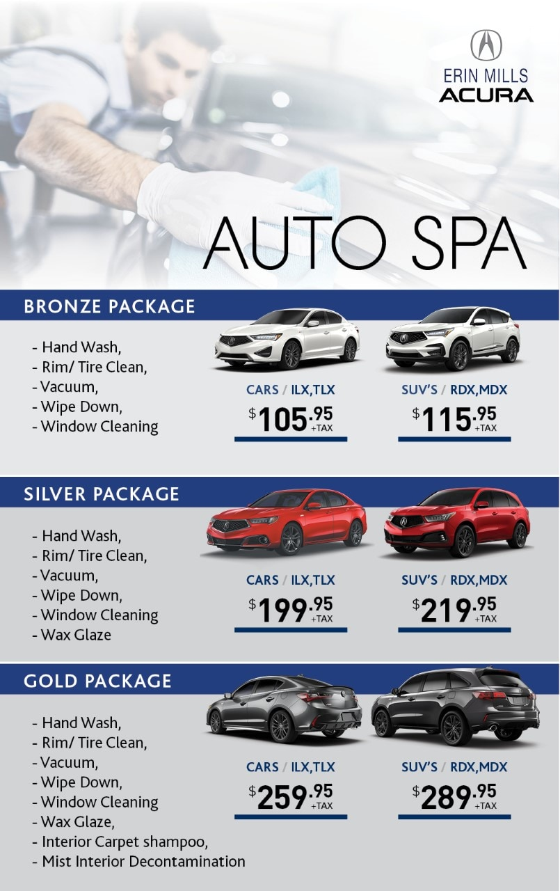 Acura Detailing Packages in Mississauga, ON - Erin Mills Acura