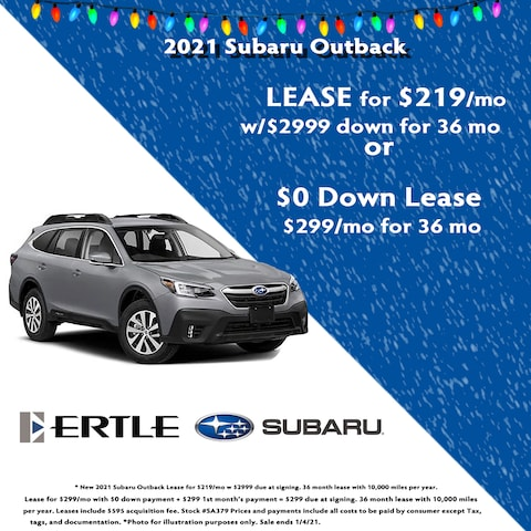 2021 Subaru Outback Holiday Lease Specials