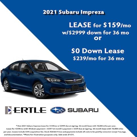 2021 Subaru Impreza Lease Specials