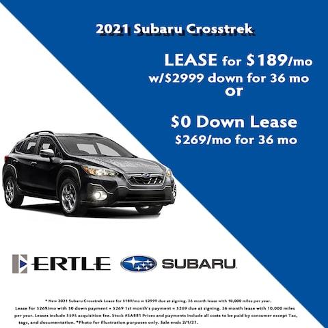 2021 Subaru Crosstrek Lease Specials
