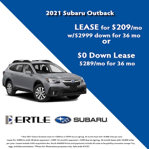 2021 Subaru Outback Lease Specials