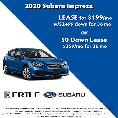 2020 Subaru Impreza Hatchback Lease Specials