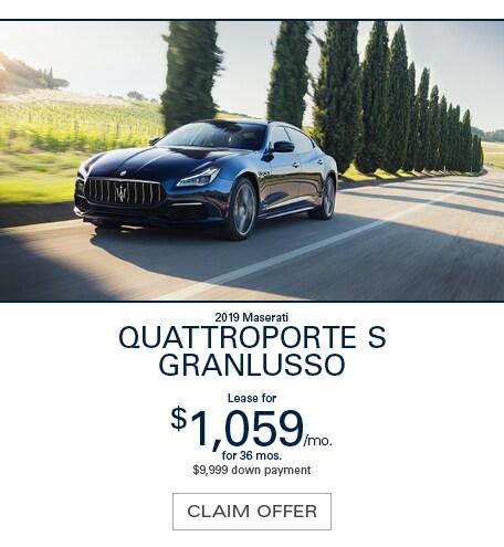 Maserati Quattroporte S GranLusso Lease Special
