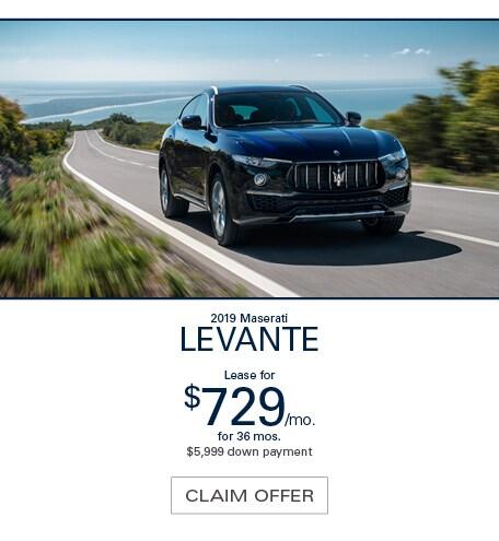 Maserati Levante Lease Special