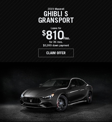 Maserati Ghibli S GranSport Lease Special