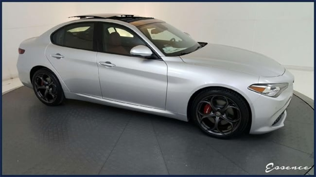 New 2019 Alfa Romeo Giulia | Ti SPORT | DRVR ASST | PANO ROOF | CAM | BLIND SPOT | HTD STS | HARMAN KARDON | APPLE CAR | RED CLPRS | DARK 5-HOLE WLS | $8K OPTS Sedan in the Dallas area