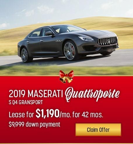 Maserati Quattroporte S Q4 GranSport Lease Special