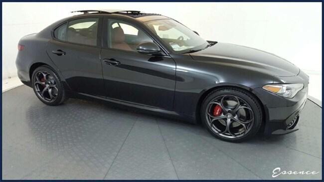 New 2019 Alfa Romeo Giulia   Ti SPORT   BLACK EDITION   DYNAMIC ASST+   PANO ROOF   ACTV CRUISE   NAV   HARMAN KARDON   RED CLPRS   $10K OPTS Sedan in the Dallas area