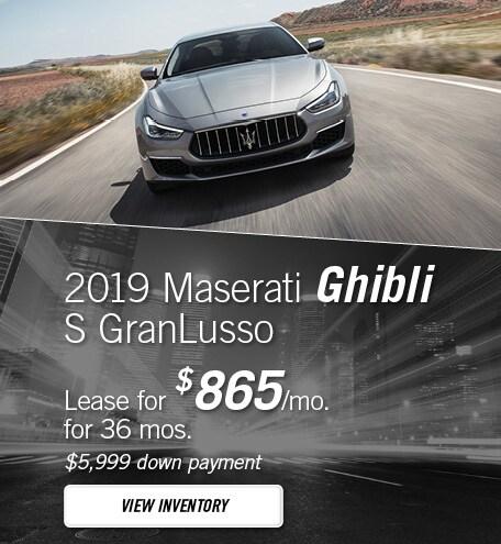 Maserati Ghibli S GranLusso Lease Special