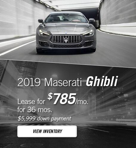 Maserati Ghibli Lease Special