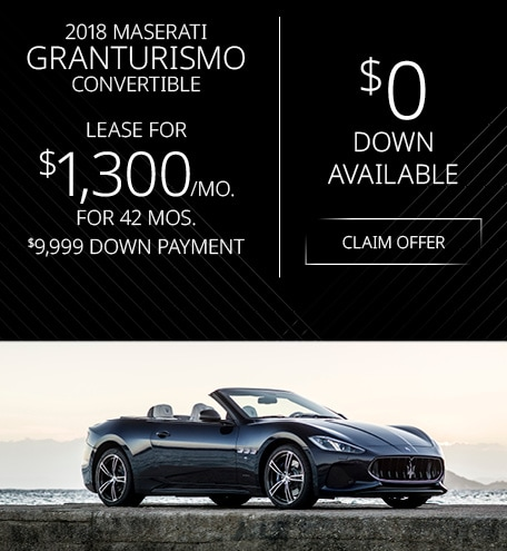 Maserati GranTurismo Convertible Lease Offer