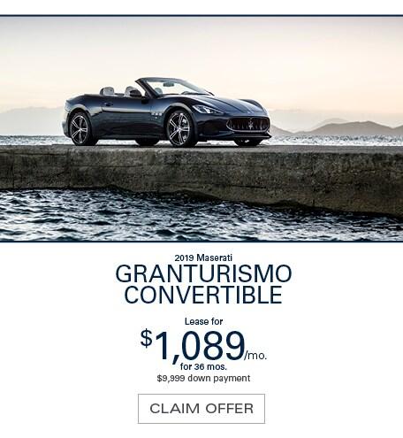 Maserati GranTurismo Convertible Lease Special