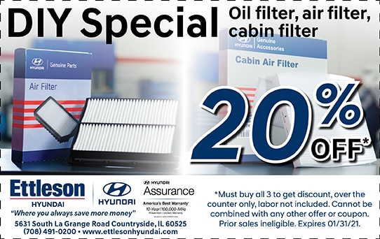 20% off Filters | Ettleson Hyundai
