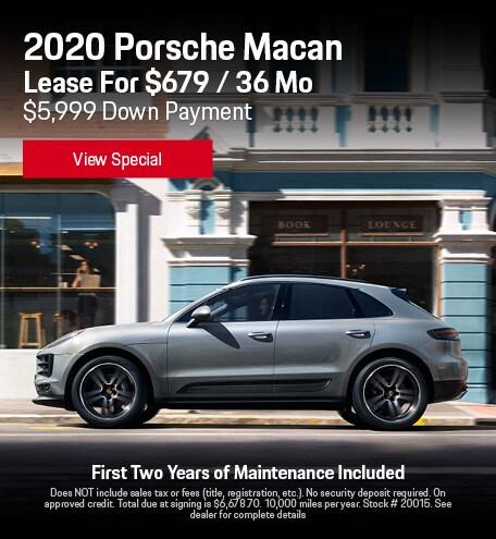 2020 Porsche Macan - Lease