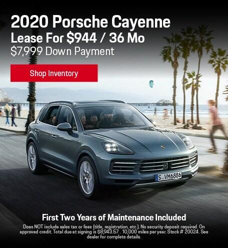 2020 Porsche Cayenne - Lease