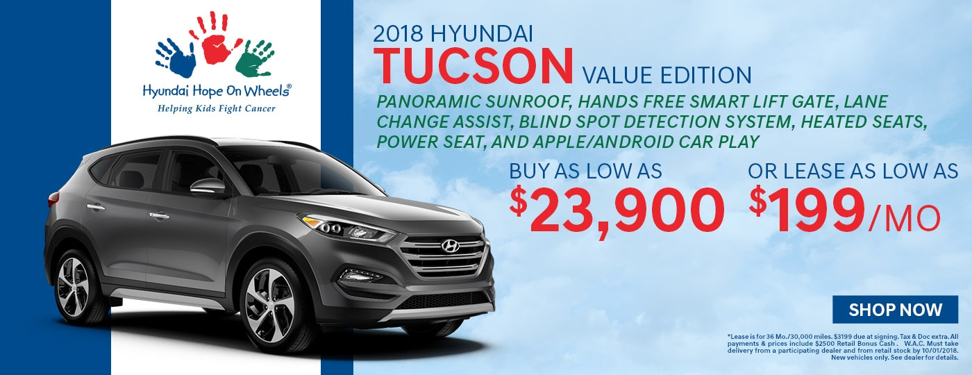 2018 Hyundai Tucson Special Offer