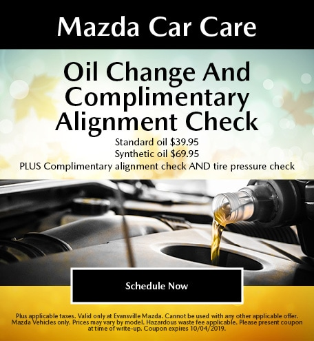 Mazda Car Care - Oil Change and Complimentary Alignment Check