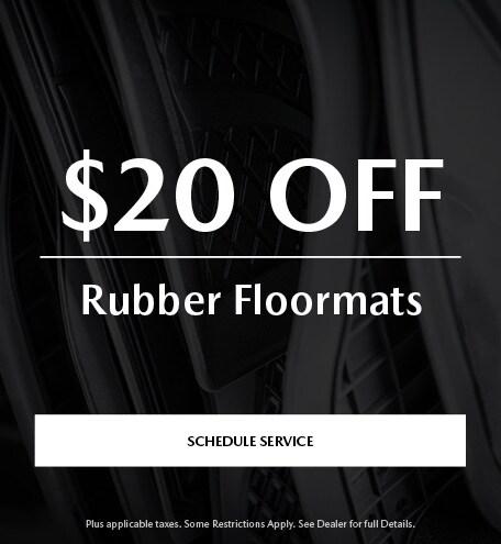 $20 Off Rubber Floormats
