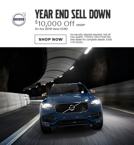 Year End Sell Down - 2019 Volvo XC90