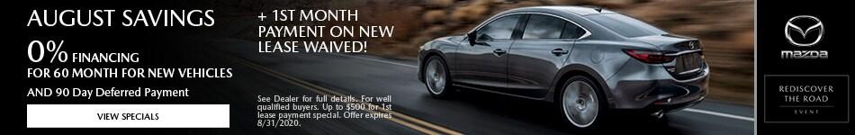 2020 - Mazda August Savings - August
