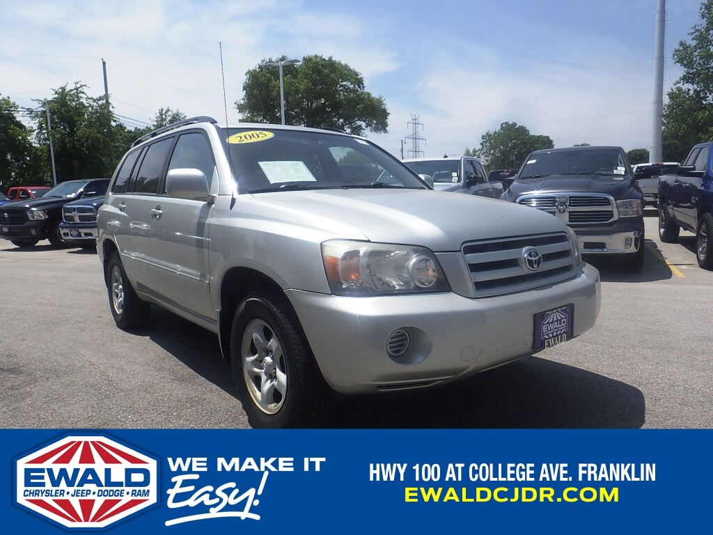 2005 Toyota Highlander 4dr 4-Cyl (Natl) 2WD Sport Utility Vehicles
