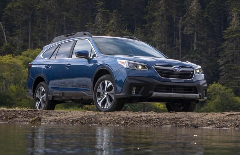 2021 Subaru Outback Blue creekside