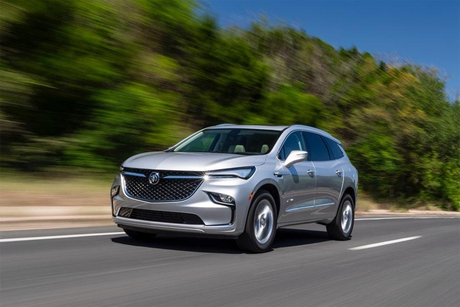 2022 Buick Enclave Avenir silver road