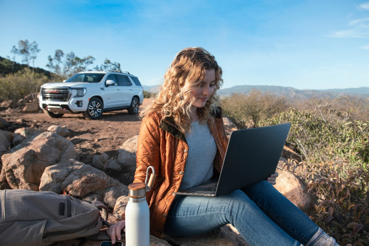 Work from GMC 2021 GMC Yukon laptop in the plains