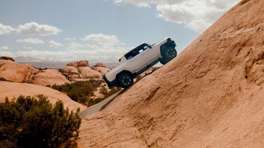 GMC HUMMER EV Pickup Truck at Moab white