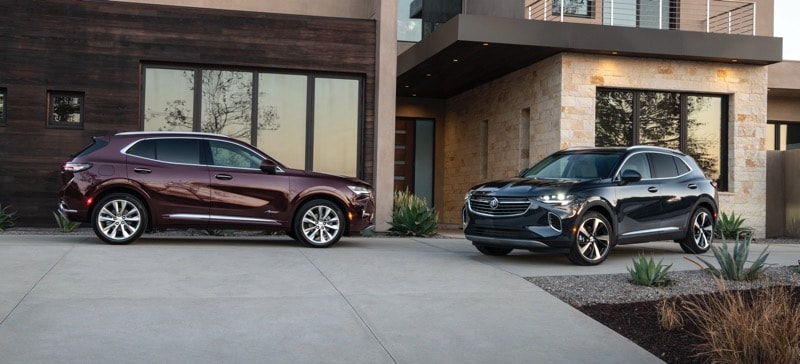 2021 Buick Envision Avenir Duo Red and Blue