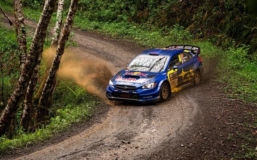 Subaru Motorsports USA WRX STi rally blue Olympus Rally