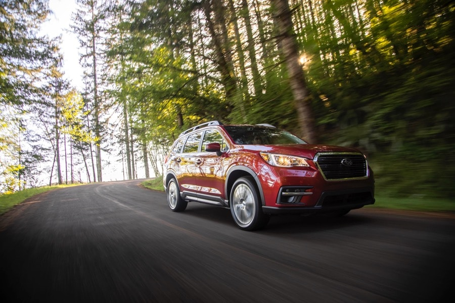 2021 Subaru Ascent Limited red woods