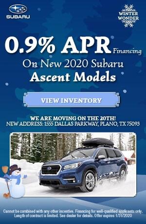 January New 2020 Subaru Ascent Finance Offer