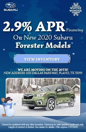 January New 2020 Subaru Forester Finance Offer