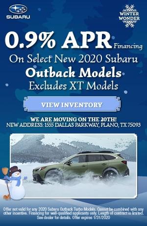 January New 2020 Subaru Outback Finance Offer