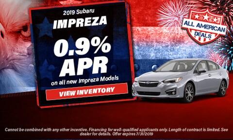 July 2019 Impreza Finance Offer