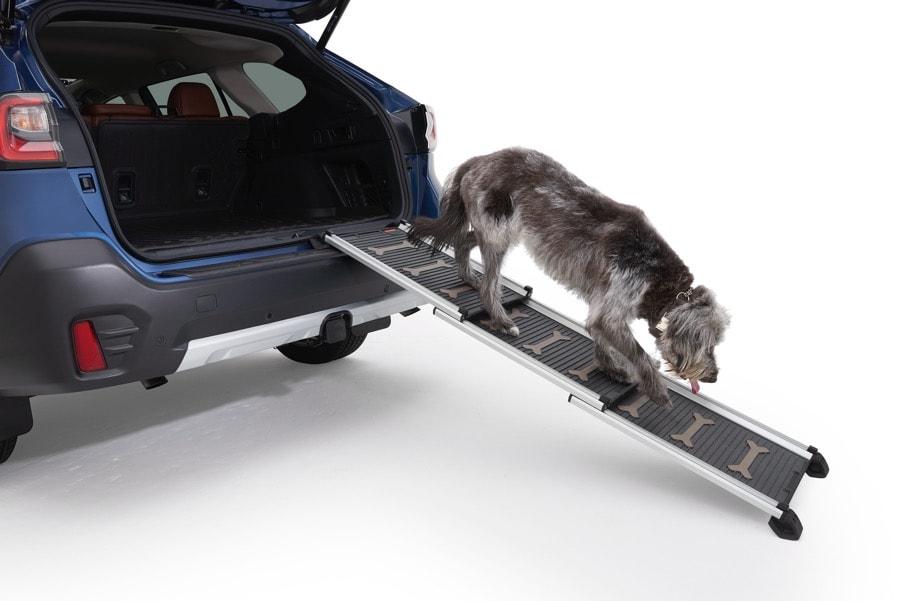 Subaru Outback blue dog ramp pet accessories