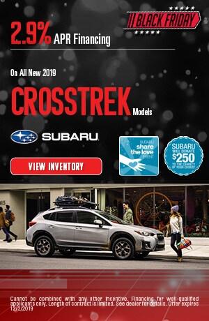November All New 2019 Crosstrek Model Finance Offer