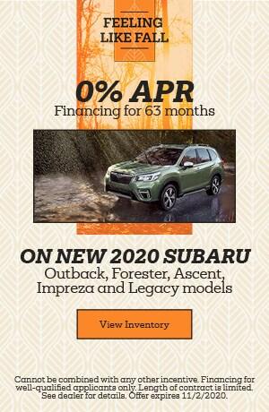 October 0% APR Financing for 63 months Offer