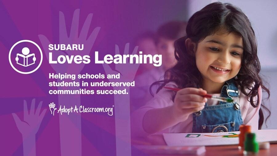 Subaru Loves Learning 2021 AdoptAClassroom.org
