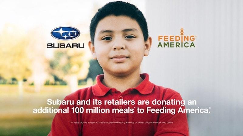 Subaru Feeding America 100 Million Meals Commitment