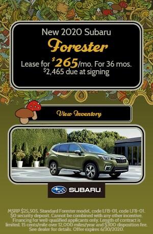 June 2020 Subaru Forester Lease