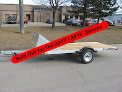 2019 Excalibur 10' Galvanized Single Snowmobile Trailer -