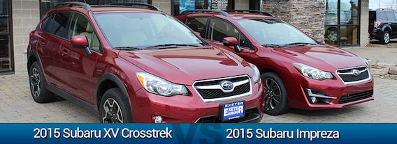 Compare Subaru Models >> Exeter Subaru Subaru Impreza Vs Xv Crosstrek Comparison