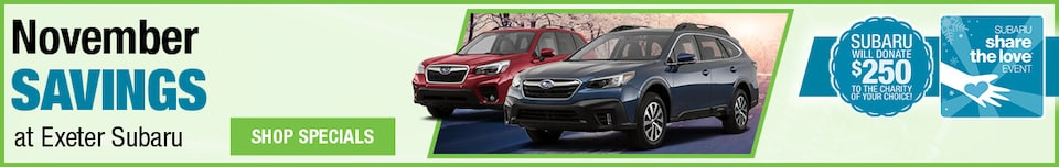 November Savings at Exeter Subaru