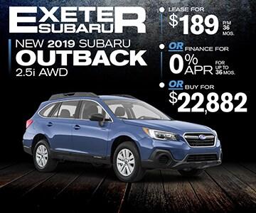 Subaru 0 Financing >> 2019 Subaru Outback Specials Exeter Nh Near Manchester