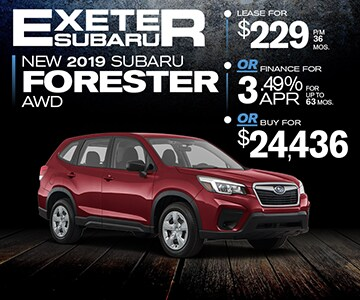 Subaru Dealers Nh >> 2019 Subaru Forester Specials Exeter Nh Near Manchester