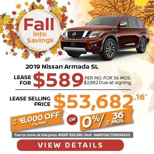 Lease a 2019 Nissan Armada for $589/mo.