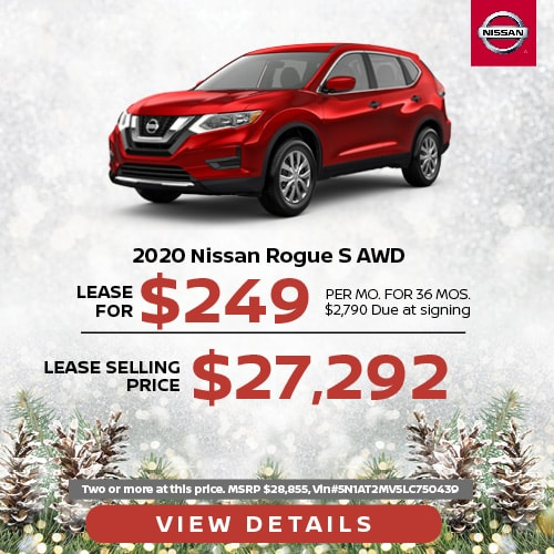 Lease a 2020 Nissan Rogue for $249/mo.