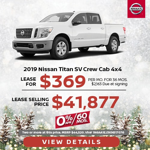 Lease a 2019 Nissan Titan SV for $369/mo.